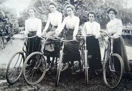 suffragettes on bicycles